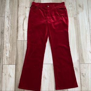 Ralph Lauren • Lauren Jeans Co Red Velvet Pants